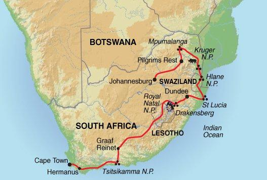 Cultural Culture Johannesburg to Cape Town package