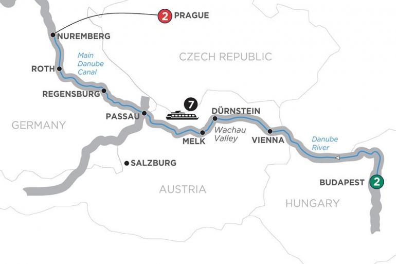 Budapest Nuremberg The Blue Danube Discovery Trip