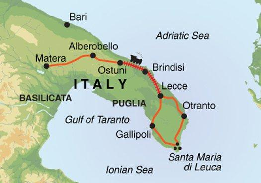 Adventure Independent Headwater - Puglia Self-Guided Cycling in the Heel of Italy package