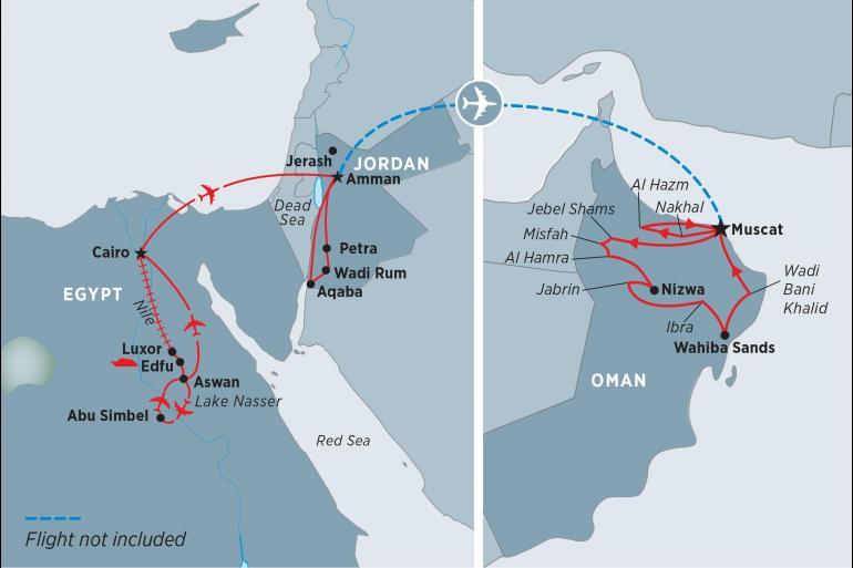 Aswan Cairo Egypt, Jordan & Oman Trip