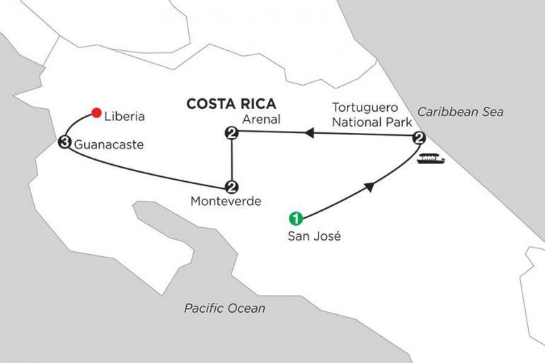 Central America Guanacaste Costa Rica Wonders with Tortuguero & Guanacaste Trip