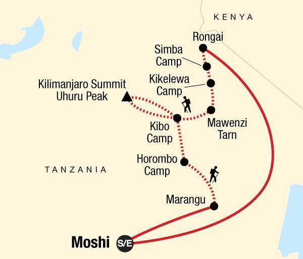 Adventure Hiking Mt Kilimanjaro Trek - Rongai Route package