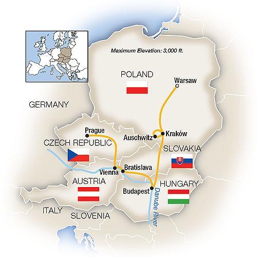 Warsaw, Budapest, Vienna & Prague 2019 tour
