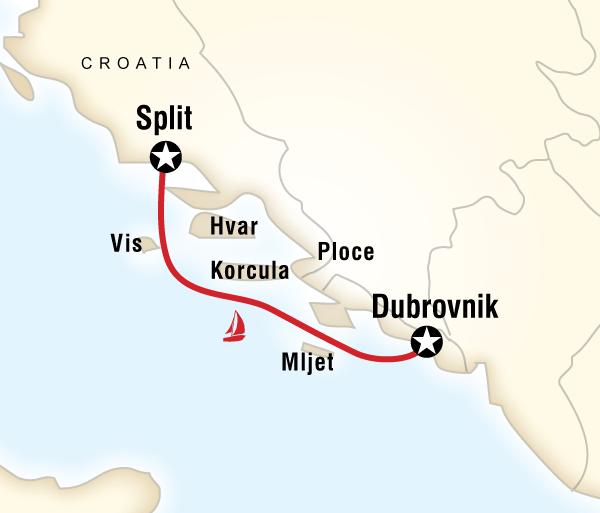 Croatia Diocletian's Palace Sailing Croatia - Split to Dubrovnik Trip