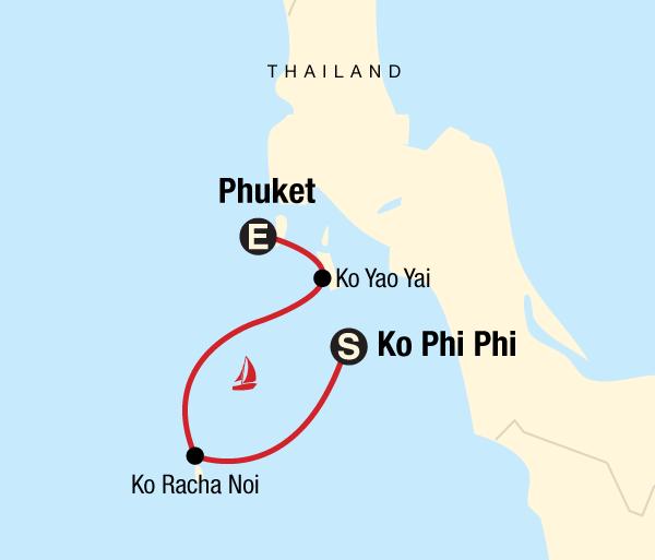 Andaman Islands Phuket Sailing Thailand - Ko Phi Phi to Phuket Trip