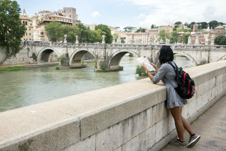 lone tourist