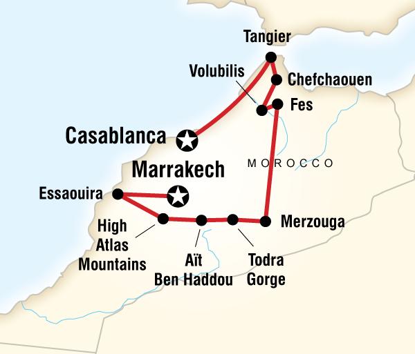 Atlas Mountains Casablanca Highlights of Morocco Trip