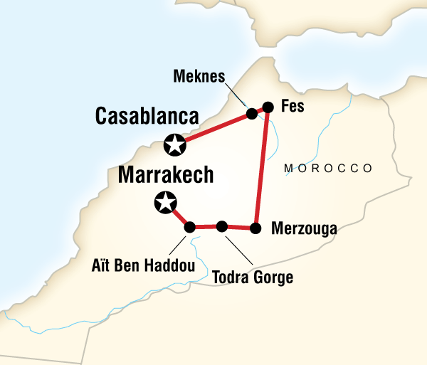 Atlas Mountains Casablanca Morocco Kasbahs & Desert - Teenage Adventure Trip