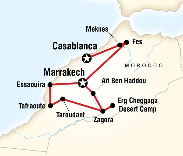 Casablanca Essaouira Morocco Sahara and Beyond Trip