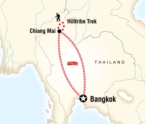 Bangkok Chiang Mai Northern Hilltribes & Villages Trip