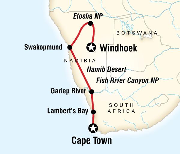 Cape Town Etosha National Park Cape and Namibia Adventure Trip