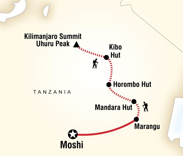 Adventure Hiking Mt Kilimanjaro Trek - Marangu Route package