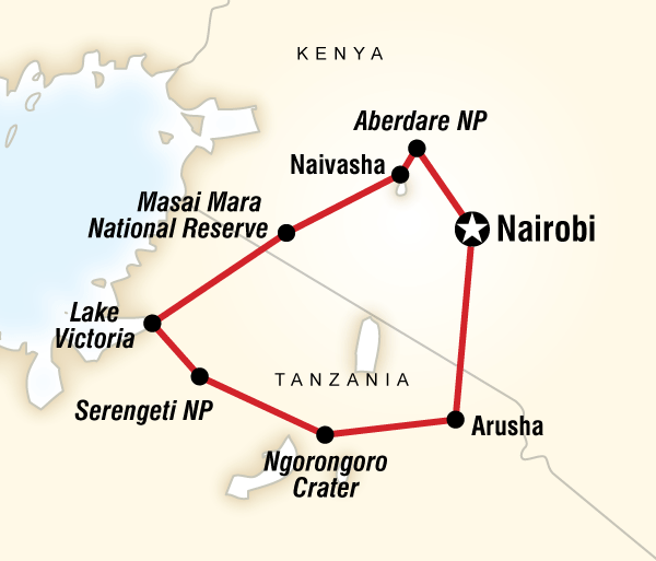 Arusha Nairobi East Africa Lodge Safari Trip