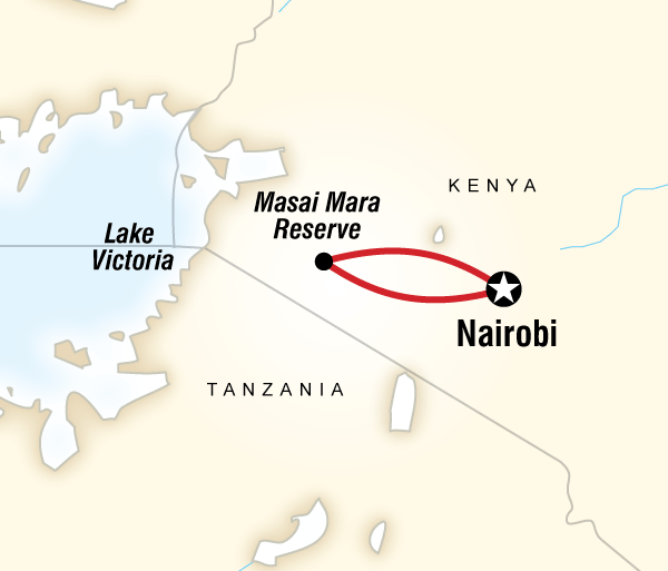Nairobi Rift Valley Masai Mara Camping Safari Trip