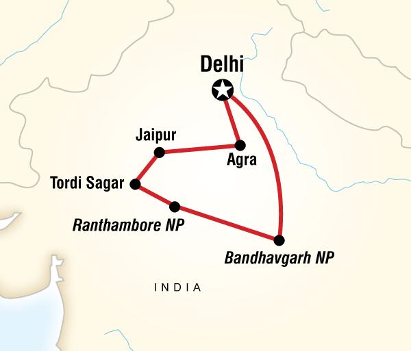Agra Agra Fort Tigers, Temples & Wildlife Adventure Trip