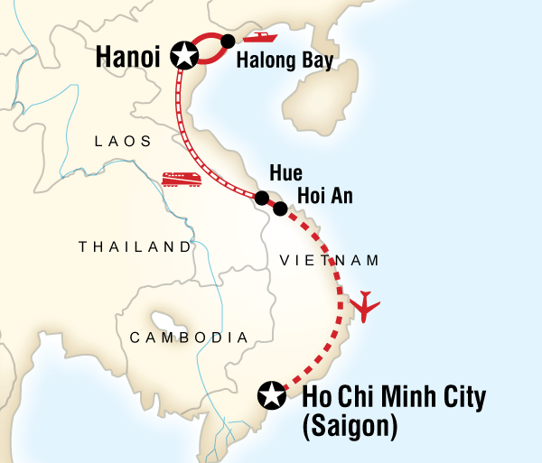Cu Chi Tunnels Da Nang Classic Vietnam Hanoi to Ho Chi Minh City - Teenage Adventure Trip