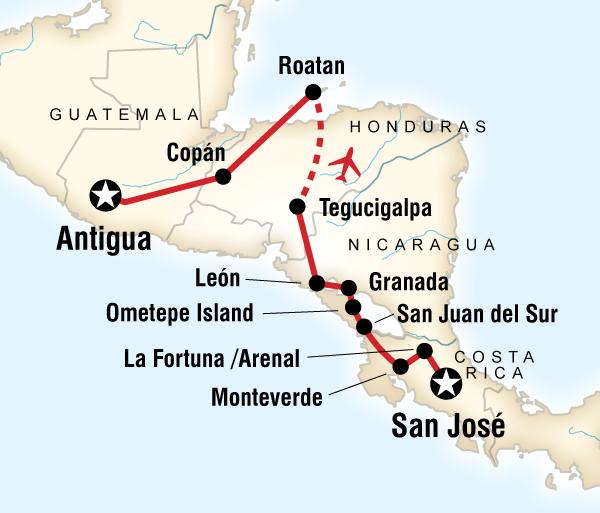 Antigua Caribbean Volcano Adventure – San José to Antigua Trip