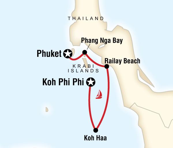 Andaman Islands Phuket Sailing Thailand - Phuket to Koh Phi Phi Trip