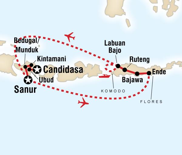 Bali Ubud Bali, Flores & Komodo Explorer Trip