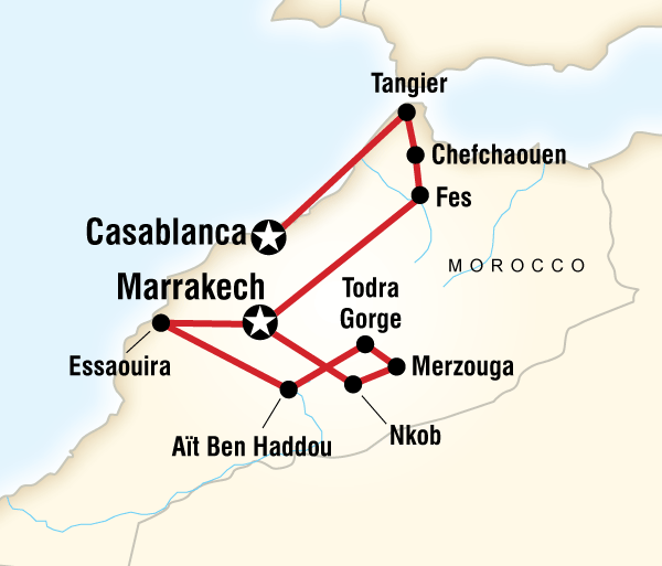 Casablanca Essaouira Morocco on a Shoestring Trip