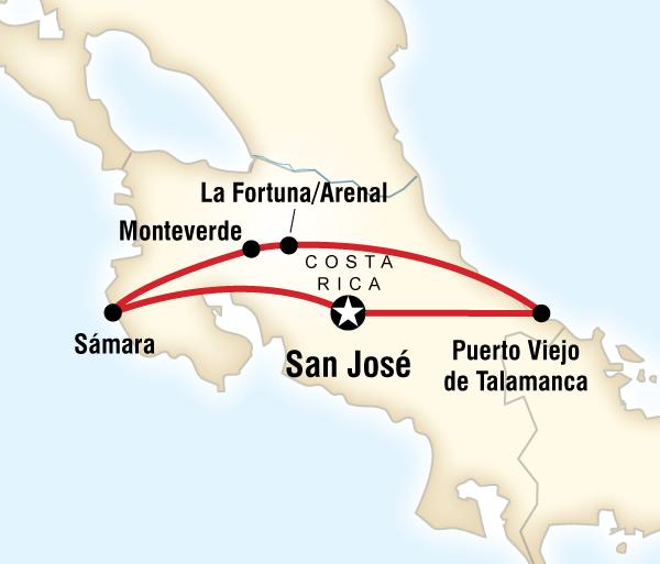 Caribbean San José Basic Costa Rica Trip