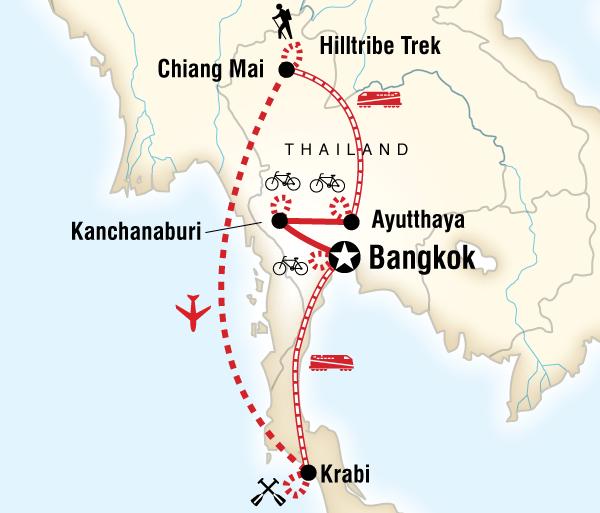 Andaman Sea Ayutthaya Thailand Hike, Bike & Kayak Trip