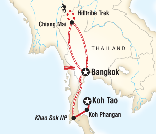 Bangkok Chiang Mai Thailand on a Shoestring Trip