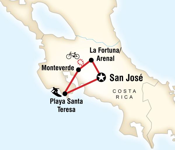 Arenal Volcano San José Costa Rica Volcanoes & Surfing Trip