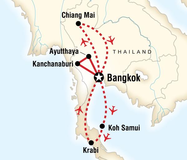 Ayutthaya Bangkok North & South Thailand Highlights Trip