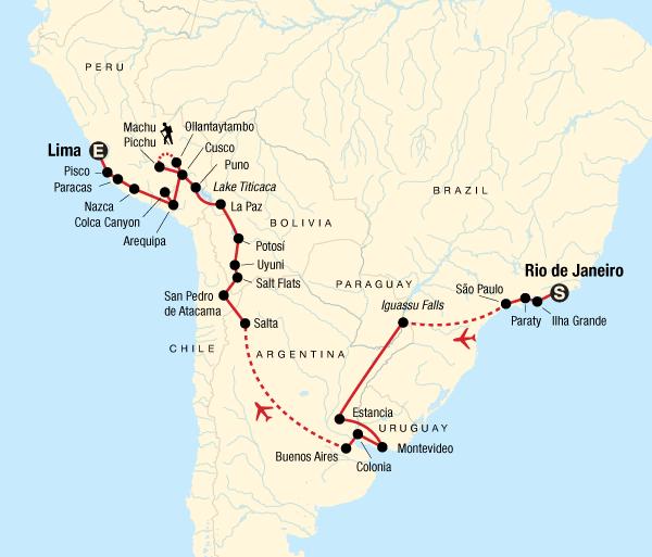 Arequipa Buenos Aires Rio to Lima Adventure Trip
