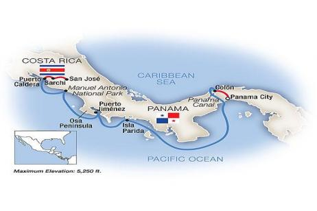 The Panama Canal & Costa Rica - Westbound 2018 tour