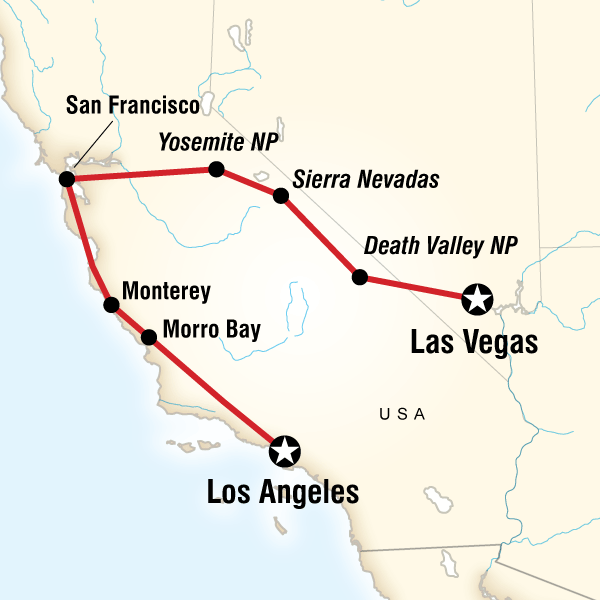 Death Valley Death Valley National Park Sin, Surf & Sierras – Las Vegas to LA Trip