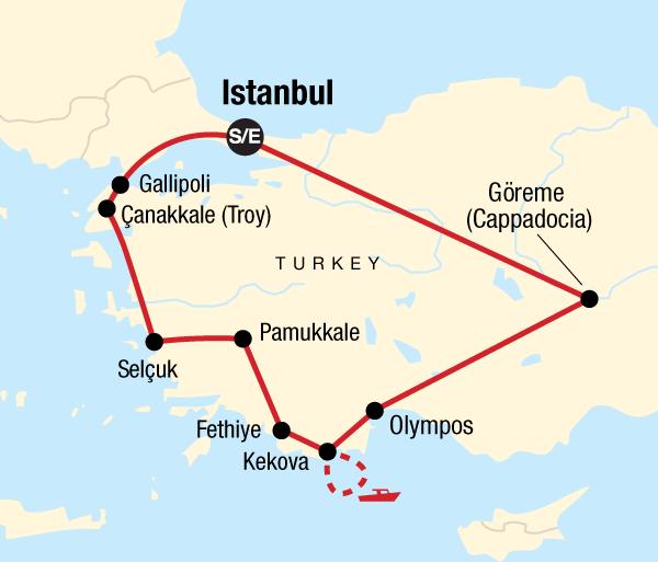 Antalya Çanakkale Turkey on a Budget Trip