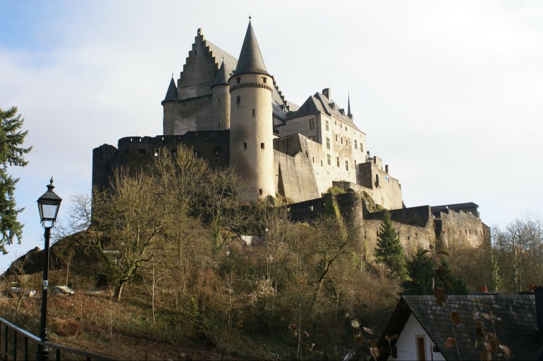 Castle view of Luxembourg, Europe_P