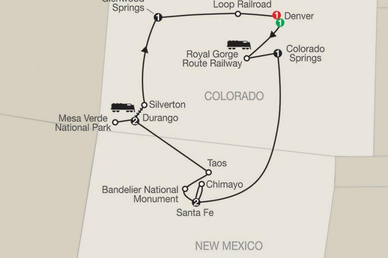 Denver Santa Fe Historic Trains of the Old West Trip