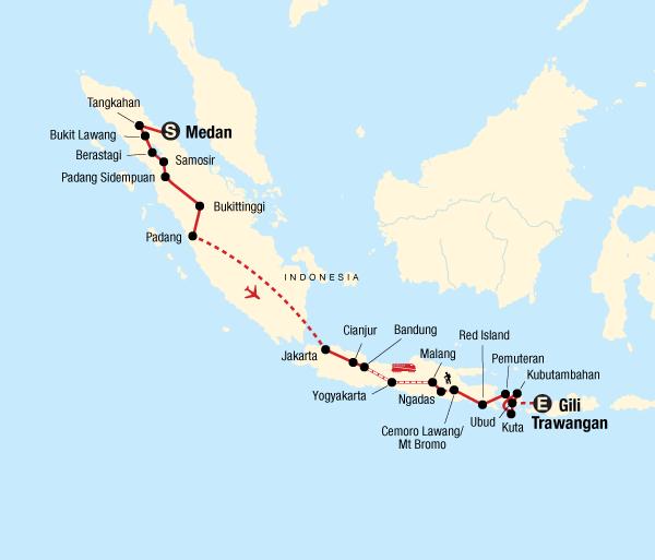 Bali Jakarta Indonesia Adventure – Sumatra, Java & Bali Trip