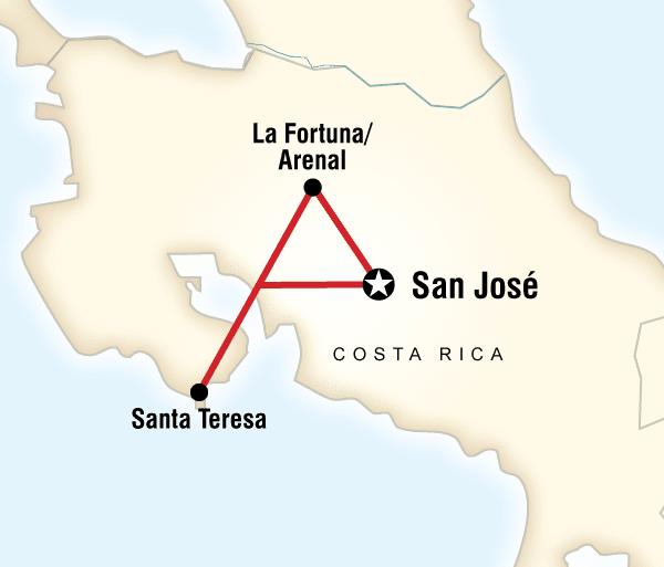 Arenal Volcano San José Costa Rica on a Shoestring Trip