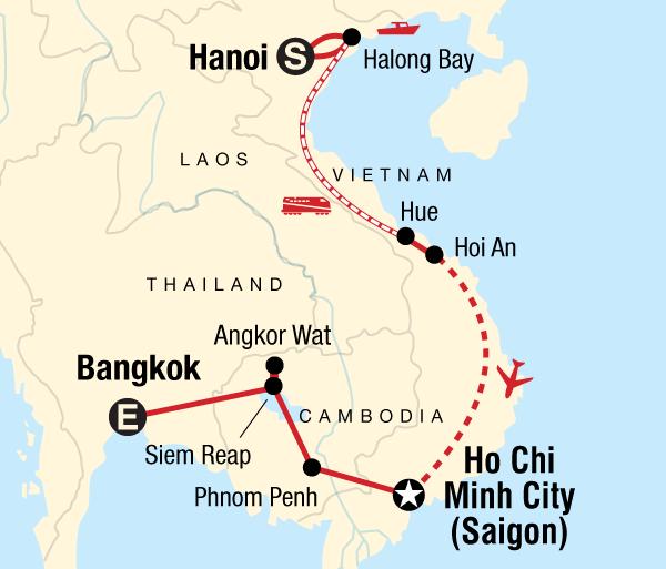 Angkor Wat Bangkok Essential Vietnam & Cambodia Trip