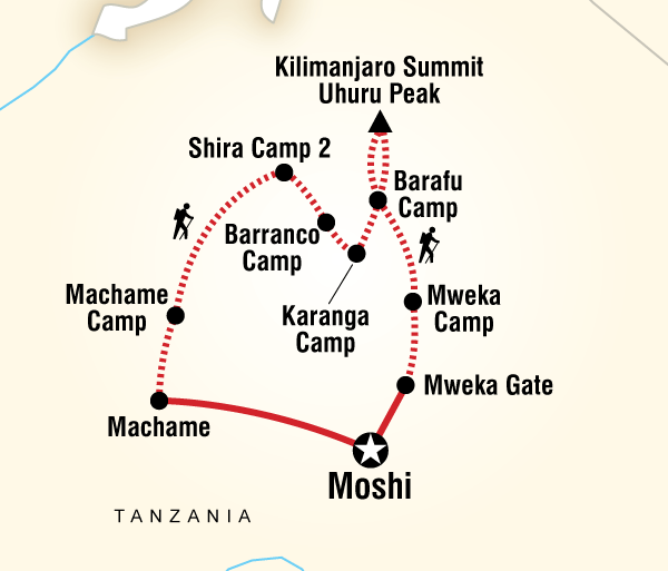 Adventure Hiking Mt Kilimanjaro Trek - Machame Route (9 Days) package