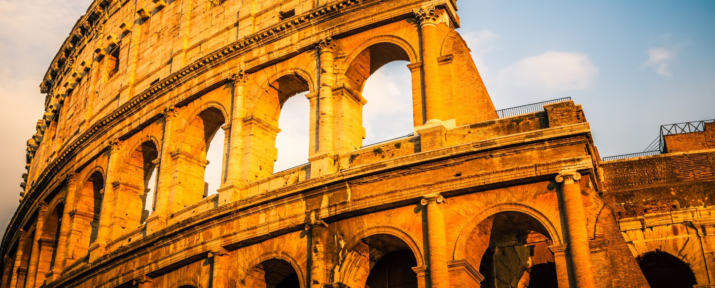 Colosseum on sunny day in Rome