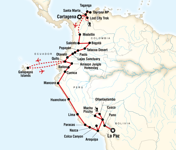 Arequipa Bath Colombia, Andes & Galápagos Trip