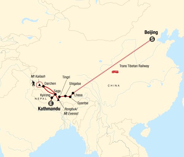 Beijing Everest Base Camp Kailash Saga Dawa Festival Trip