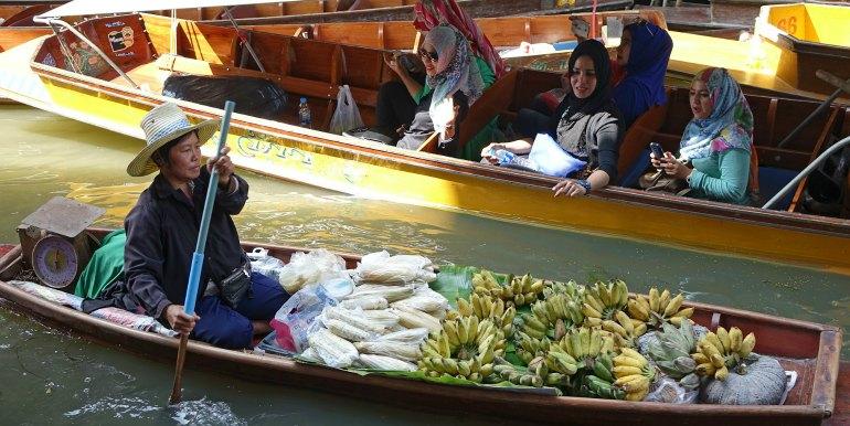 Thailand floating food market