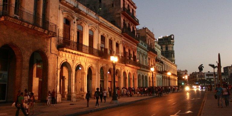 Havana Cuba at dusk