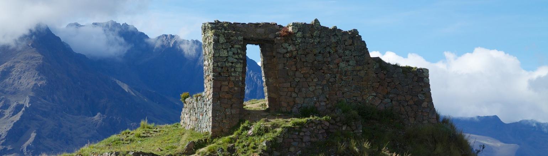 Ruins of Ollantaytambo in Peru