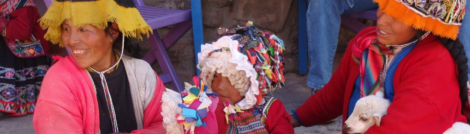 Meeting local women in colorful traditional dress, Sacred Valley travel experience