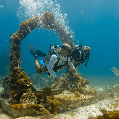Underwater museum sculpture, Mexico