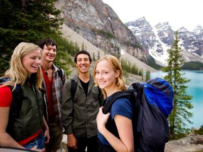 group of friends enjoying canada