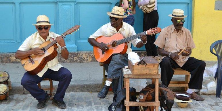 Street musicians in Havana, Cuba