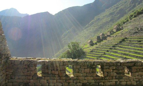 Sunburst at Machu Picchu